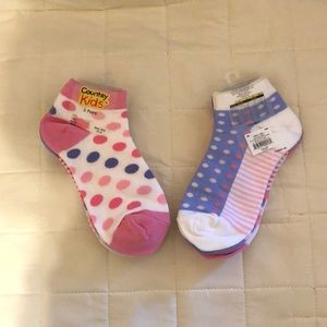 6 prs Country Kids ankle socks, size 12-6